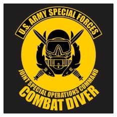 US Army Special Forces Combat Diver Cutting Sticker