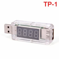 USB Pengisi Daya Doktor Seluler Daya Detector Baterai Penguji Voltase Current Meter Transparan 7 Cm * 2.5 Cm * 2 Cm -Internasional