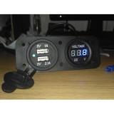 Review Usb Charger Volt Meter 2 In 1 Anti Air Universal Nmax Vario 125 Dll Free Baut Dan Soket Dki Jakarta