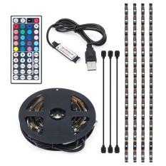 USB RGB Color Change 5050 LED Strip Komputer TV PC Lampu Latar Light Remote Kit-Intl