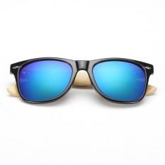 USTORE Vintage Unisex Classic Kaki Kayu AC Frame Sunglasses Kacamata Hitam-Intl