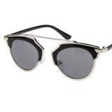 Toko Uv400 Mata Kucing Panas Luar Ruangan Retro Kacamata Biasa Kacamata Hitam Perak Yang Bisa Kredit