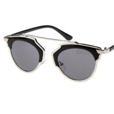 Harga Uv400 Mata Kucing Panas Luar Ruangan Retro Kacamata Biasa Kacamata Hitam Perak Di Tiongkok