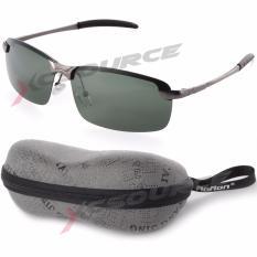 Tips Beli Uv400 Kacamata Terpolarisasi Sports Luar Room Mengemudi Sunglasses Hijau Abu Abu Bingkai Os389 Sz