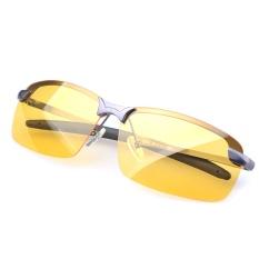 Uv400 Night Vision Glasses Anti Glare Polarized Lens Eyewear Eyeglasses Driving Brightening Goggles Grey Intl Terbaru