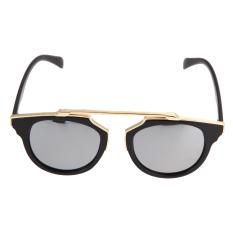UV400 Panas Logam Kacamata Hitam Wanita Jual Kacamata Vintage Jaket Berwarna Keperakan