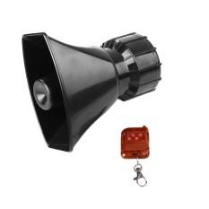 Van Hitam 100 W 4A Super Loud Jarak Jauh Pengendali Nirkabel Alarm Klakson Pengeras Suara-Internasional