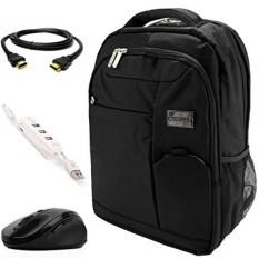 Vangoddy Jet Hitam Ransel Laptop Anti-pencurian W/3 PC Aksesori Bundel untuk Lenovo IdeaPad/Yoga /Fleksibel/Chromebook/ThinkPad/Legion/11