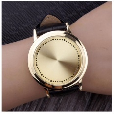 Jual Vanier Fashion Touch Screen Led Gold Leather Watch Branded