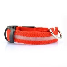 Variabel LED Kecil Dog Collar Safety Flashing Di Dark Light Up Adjustable-Intl