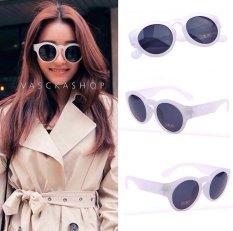 Spesifikasi Vasckashop Kacamata Spy Oval White Transparant Yang Bagus