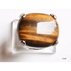 Vee Accessories Cincin Platinum Tiger Eye Coklat 03