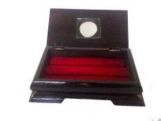 Vee Accessories Kotak Cincin Kayu Jati Ukir Sumbawa KJ7 - Cokelat