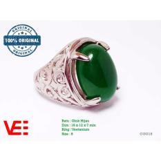 Spesifikasi Vee Cincin Pria Batu Giok Hijau Natural Batu Akik Cgg118 Bagus