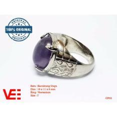 Beli Vee Cincin Pria Batu Kecubung Ungu Batu Akik Cp03 Vee Accessories