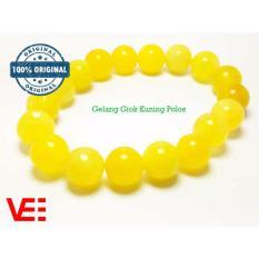 VeE Gelang Kesehatan Pria / Wanita Giok Kuning Polos