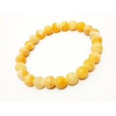 Jual Vee Gelang Pria Wanita Batu Fosil Batu Yellow 8Mm Gelang Terapi Kesehatan Grosir