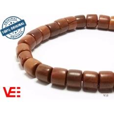 VeE Gelang Tasbih Kesehatan Pria / Wanita Kayu Kokka Kaukah - Kapsul Coklat