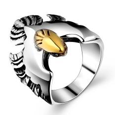 Veecome Pria Antik Perhiasan 316L Anti Karat Keren Olecranon Cincin untuk Xmas Hadiah Ukuran: 9 #-Internasional