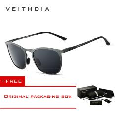 Jual Veithdia Adapula Retro Magnesium Aluminium Merek Kacamata Hitam Vintage Eyewear Lensa Terpolarisasi Aksesoris Pria Wanita Kacamata Matahari 6630 Kelabu Membeli 1 Mendapatkan 1 Hadiah Veithdia Ori