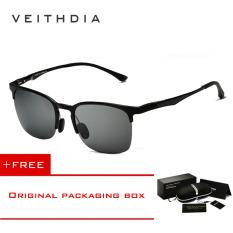 Spesifikasi Veithdia Adapula Retro Magnesium Aluminium Merek Kacamata Hitam Vintage Eyewear Lensa Terpolarisasi Aksesoris Pria Wanita Kacamata Matahari 6631 Hitam Abu Abu Membeli 1 Mendapatkan 1 Hadiah Merk Veithdia