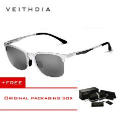Beli Veithdia Adapula Retro Magnesium Aluminium Merek Kacamata Hitam Vintage Eyewear Lensa Terpolarisasi Aksesoris Pria Wanita Kacamata Matahari 6631 Silver Cermin Membeli 1 Mendapatkan 1 Hadiah Cicilan