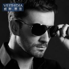 VEITHDIA Alloy Men Kacamata Terpolarisasi Lensa Driver Cermin Kacamata Pria Mengemudi Memancing Outdoor Eyewears 3088 (