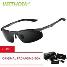 VEITHDIA Aluminium Magnesium Perancang Merek Terpolarisasi Kacamata Pria Kacamata Kacamata Mengemudi Musim Panas 2016 Eyewear Aksesoris 6529 (abu-abu) Kacamata Hitam [buy 1 Get 1 Freebie]