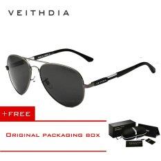 Harga Veithdia Aluminium Magnesium Pria Sunglasses Polarized Sun Glasses Fishing Outdoor Eyewears Aksesoris 6695 Abu Abu Beli 1 Gratis 1 Freebie Baru Murah