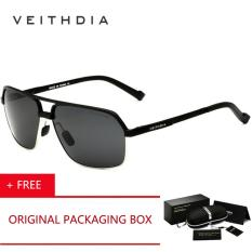 Cuci Gudang Veithdia Aluminum Magnesium Polarized Men S Sunglasses Square Vintage Male Sun Glasses Driving Eyewear Accessories Kacamata Hitam For Men 6521 Black Buy 1 Get 1 Freebie