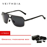 Top 10 Veithdia Aluminum Magnesium Polarized Men S Sunglasses Square Vintage Male Sun Glasses Driving Eyewear Accessories For Men 6521 Grey Buy 1 Get 1 Freebie Intl Online