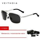 Beli Veithdia Aluminium Magnesium Polarized Sunglasses Square Vintage Pria Kacamata Matahari Mengemudi Eyewear Aksesoris Pria 6521 Silver Frame Beli 1 Gratis 1 Freebie Kredit