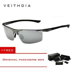 Jual Veithdia Aluminium Magnesium Sunglasses Polarized Sports Mens Coating Pria Eyewear Aksesoris 6588 Abu Abu Beli 1 Gratis 1 Freebie Branded