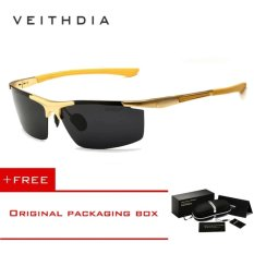Harga Veithdia Aluminum Magnesium Sunglasses Polarized Sports Mens Coating Male Eyewear Accessories 6588 Gold Intl Di Tiongkok