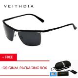 Harga Hemat Veithdia Merek Aluminium Magnesium Pria Sunglasses Polarized Lensa Cermin Outdoor Eyewear Pantai Olahraga Anti Uv Matahari Musim Panas Kacamata 6381 Hitam Beli 1 Mendapatkan 1 Freebie Intl