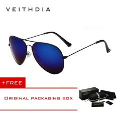 Diskon Veithdia Merek Classic Fashion Polarized Sunglasses Pria Wanita Colorful Reflektif Lapisan Lensa Eyewear Aksesoris Sun Glasses 3026 Hitam Biru Intl