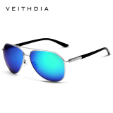 Kualitas Veithdia Merek Fashion Unisex Berjemur Kacamata Terpolarisasi Lapisan Warna Pria Eyewear Untuk Pria Wanita 2732 Perak Hijau Veithdia
