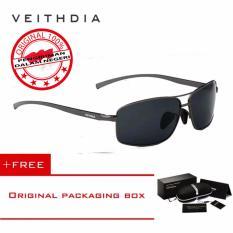 Beli Veithdia Kacamata Hitam Aluminium Sport Dan Travel Elegant Mirrored Uv400 Polarized Sunglasses 2458 Free Kotak Hardcase Lengkap