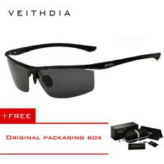 Toko Veithdia Aluminium Magnesium Sunglasses Polarized Sports Mens Lapisan Pria Eyewear Aksesoris 6588 Biack Beli 1 Gratis 1 Freebie Veithdia