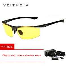VEITHDIA Magnesium Aluminium Kacamata Hitam Olahraga Pria Lapisan Terpolarisasi Pria Aksesoris Eyewear 6588 [membeli 1 Mendapatkan 1 Hadiah]