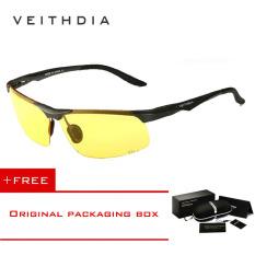 Veithdia Kacamata Pria Bahan Alumunium Magnesium Lensa Terpolarisasi Untuk Olahraga Kuning Veithdia Murah Di Tiongkok