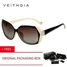 Harga Veithdia Merek Asli Logo Designer Mengemudi Wanita Hd Polarized Sunglasses Kacamata Eyewear Ukiran Diamond Aksesoris 7011 Beige Beli 1 Gratis 1 Freebie Veithdia Tiongkok