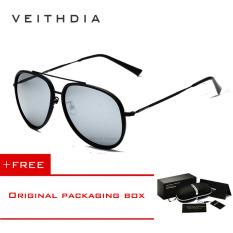 Beli Veithdia Merek Fashion Kacamata Terpolarisasi Cahaya Matahari Warna Lapisan Cermin Mengemudi Kacamata Hitam Pria For Pria Wanita Oculos Masculino 2725 Hitam Membeli 1 Mendapatkan 1 Hadiah Terbaru