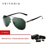 Review Veithdia Merek Fashion Unisex Kacamata Terpolarisasi Cahaya Matahari Warna Lapisan Cermin 2732