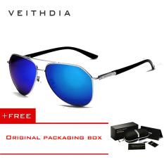 Jual Veithdia Merek Fashion Unisex Kacamata Terpolarisasi Cahaya Matahari Warna Lapisan Pria For Pria Wanita 2732 Eyewear Biru Membeli 1 Mendapatkan 1 Hadiah Satu Set