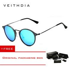Ulasan Lengkap Tentang Veithdia Merek Fashion Unisex Kacamata Terpolarisasi Lapisan Cermin Matahari Bulat Mengemudi Kacamata Hitam Pria For Pria Wanita 6358 Eyewear Hitam Membeli 1 Mendapatkan 1 Hadiah