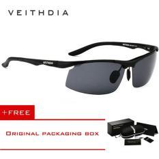 Jual Veithdia Baru Uv400 Pria Kacamata Terpolarisasi Merek Logo Desain Berkendara Sun Glasses Goggles 2017 Aksesoris 6535 Hitam Abu Abu Beli 1 Mendapatkan 1 Freebie Intl Termurah