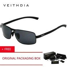 VEITHDIA Baru UV400 Pilot Pria Kacamata Terpolarisasi Merek LOGO Desain Mengemudi Sun Glasses 2017 Eyewear Aksesoris 2490 Kacamata Hitam [beli 1 Gratis 1 Freebie]