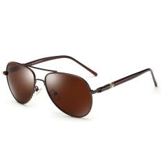 Beli Veithdia Pilot 209 Merek Kacamata Hitam Pria Perancang Terpolarisasi Paduan Uv400 Coklat Bingkai Coklat Lensa For Pria Dengan Kartu Kredit