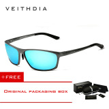 Spesifikasi Veithdia Aluminium Terpolarisasi Magnesium Pria Sunglasses Eyewear 6520 Biru Buy 1 Get 1 Freebie Yg Baik